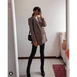 NWT Zara Plaid Check Blazer